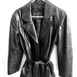 Express Dark Brown Leather Jacket